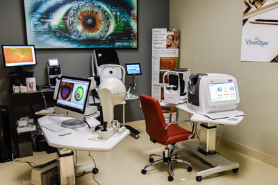 Visual Eyes renovated exam space