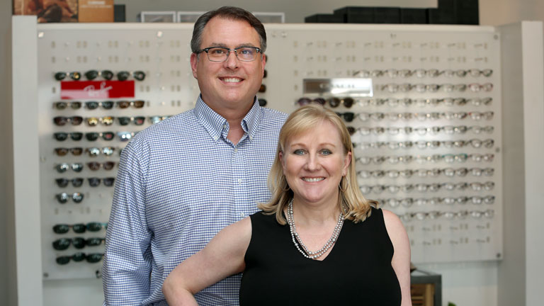 Cathi and Clayton Twitero of Brookings Vision Center