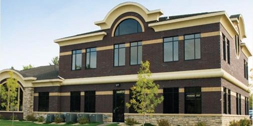 North Branch, Minnesota branch building. Stearns Bank.