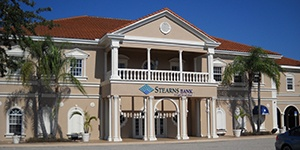 Venice, Florida branch building. Stearns Bank