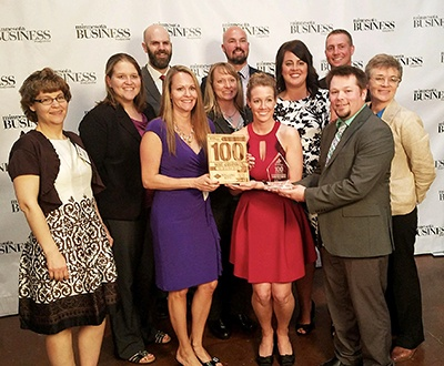 """Stearns receives Award at """"100 Best Companies To Work For"""""""