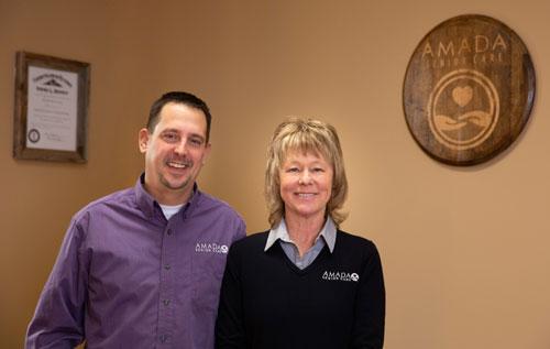 James Bernoski and Laural Strong of Amanda Senior Care