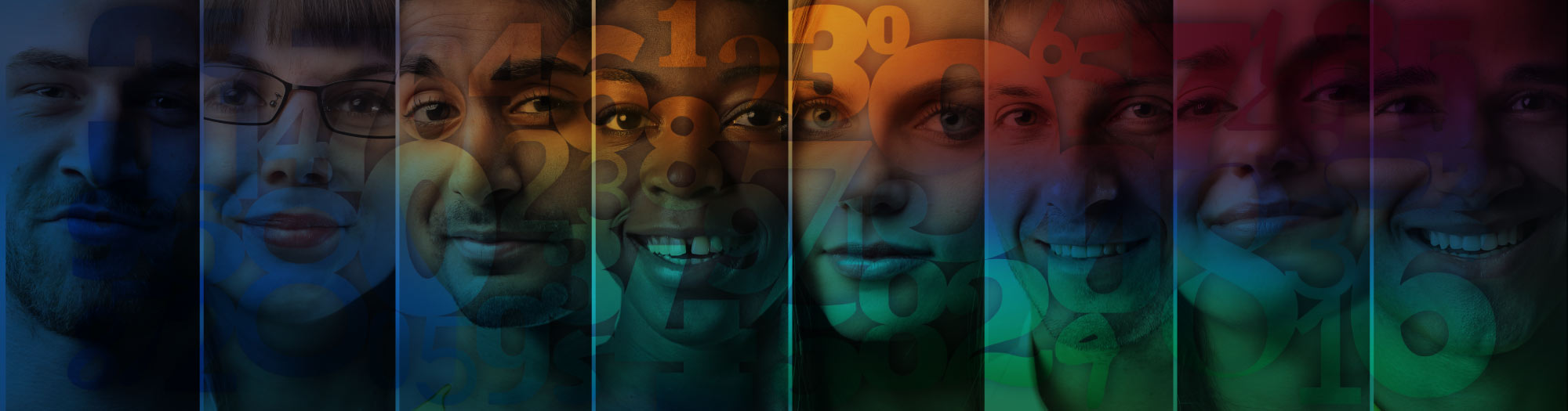 Men and women with numbers on their faces. More than a number. Stearns Bank treats you like family.